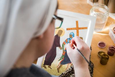 Ikonen Schreiben - Benediktinerinnen